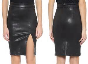 Frame Leather Skirt